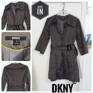 DKNY Carbon Water Resistant Trench Coat